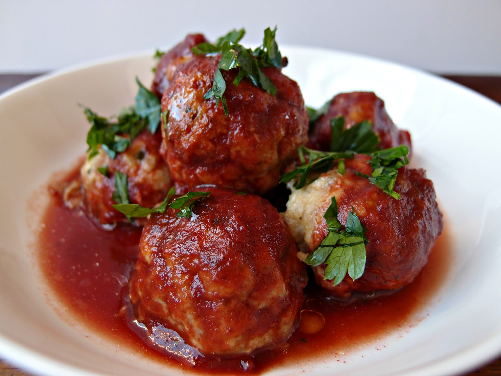 Milk and Honey: Tuscan Meatballs in Rich Tomato Sauce