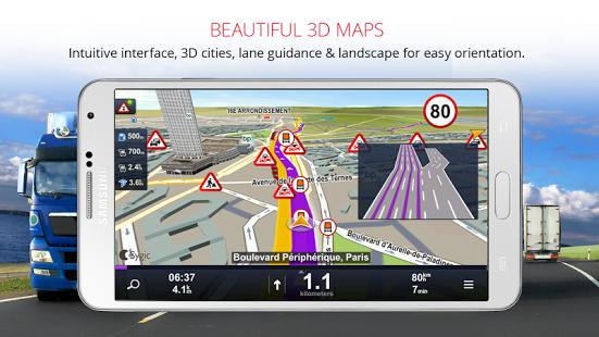 Sygic Truck Navigation v13.5 Apk + Data Map