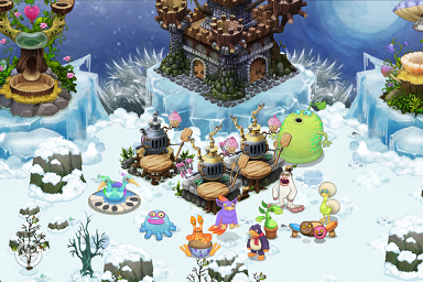 monsters found on the cold island in my singing monsters each island