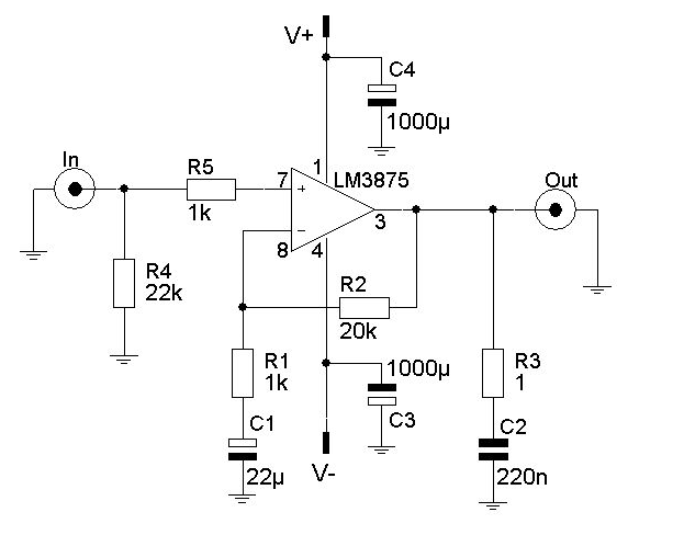 wiring schematic diagram  lm3875