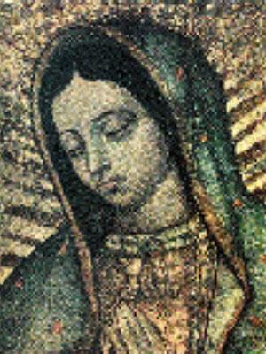 Detalle de la Imagen de la Virgen de Guadalupe