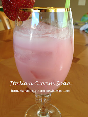 Wonderful flavor in this italian cream soda!
