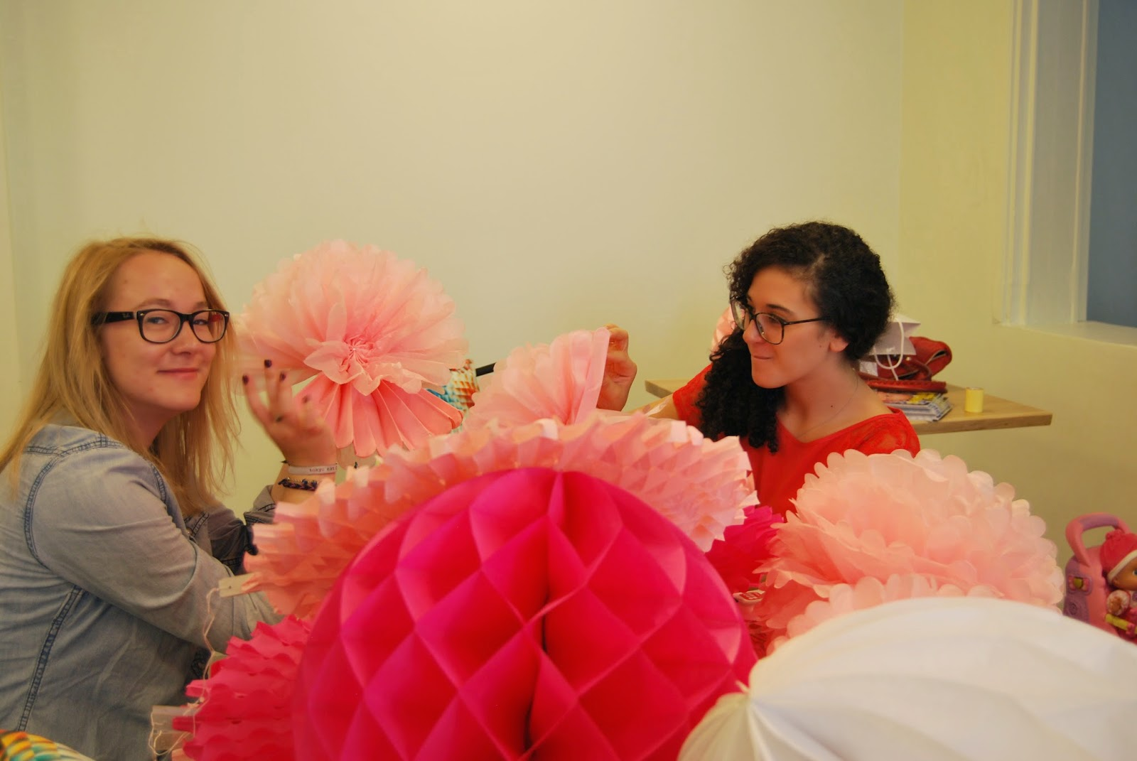 pompons rosaces