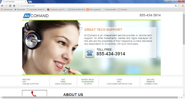 Avcomand.com pop-ups