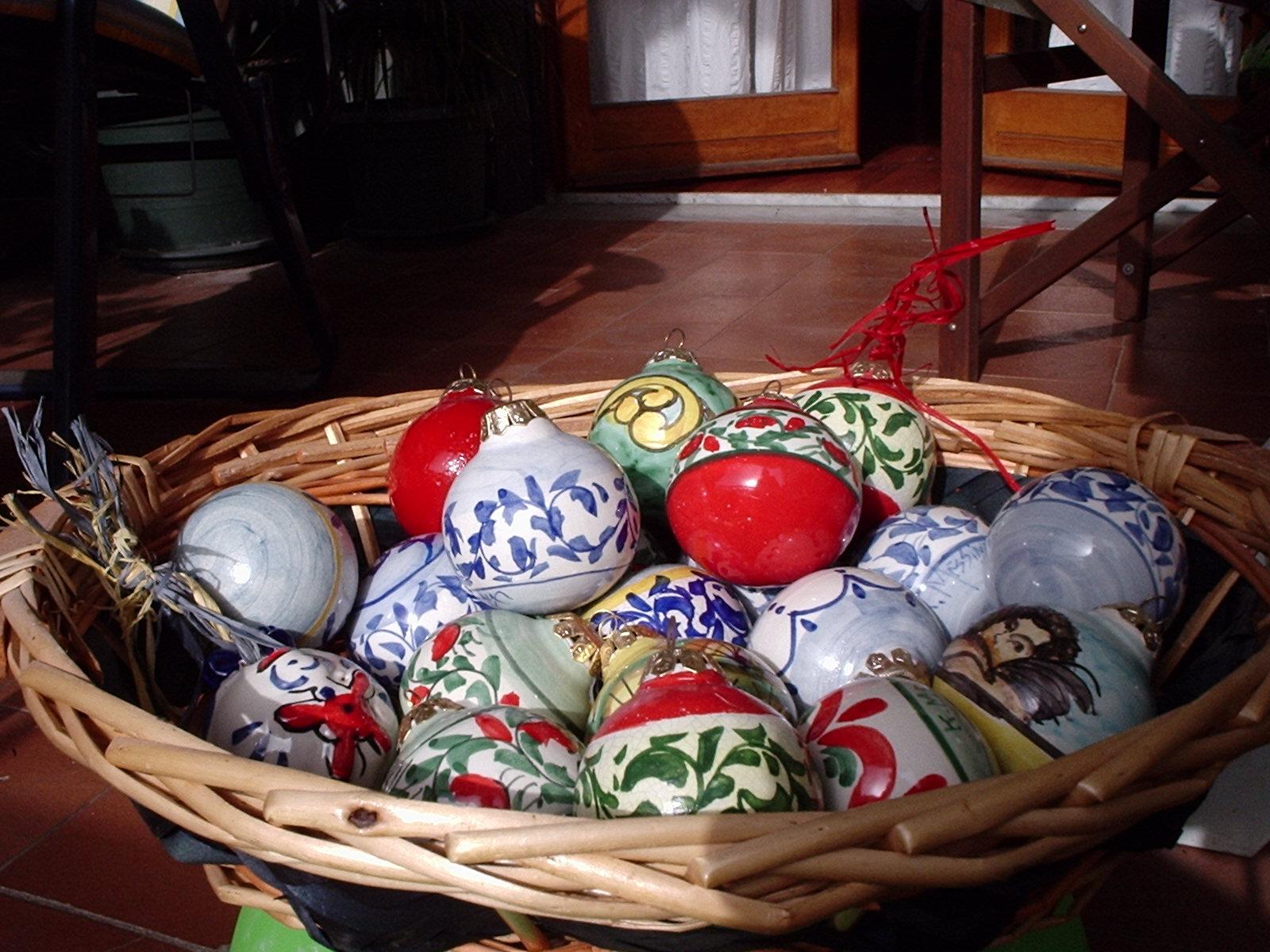 Ceramiche e dintorni palline di natale