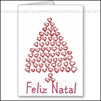 cartão de natal com corações