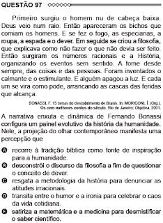 ANÁLISE - ENEM/2015 - QUESTÃO 97 - CADERNO 5 (AMARELO)