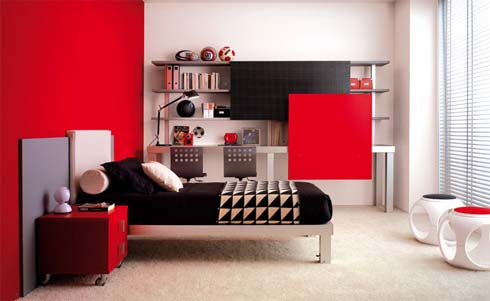 Interior Design Bedroom on Red Paint Home Interior Design Bedroom 9 Jpg