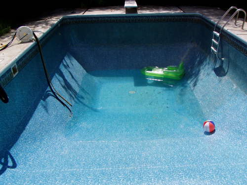 How To Empty Backyard Pool : Blog of Wood Owning a Pool is Draining