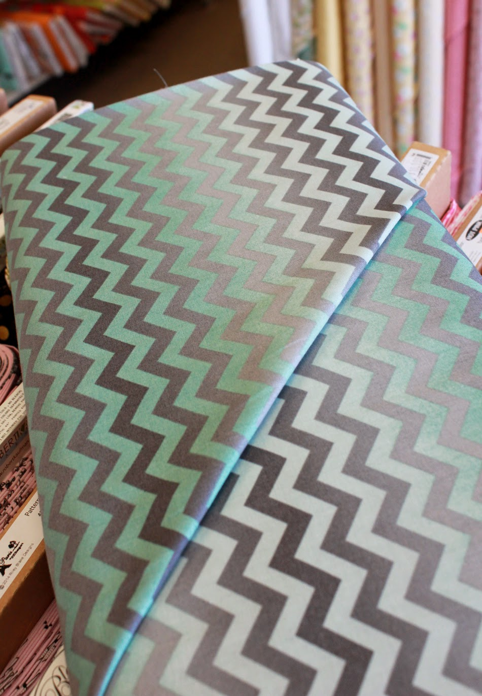 Ombre Chevron fabric at The Fabric Mill