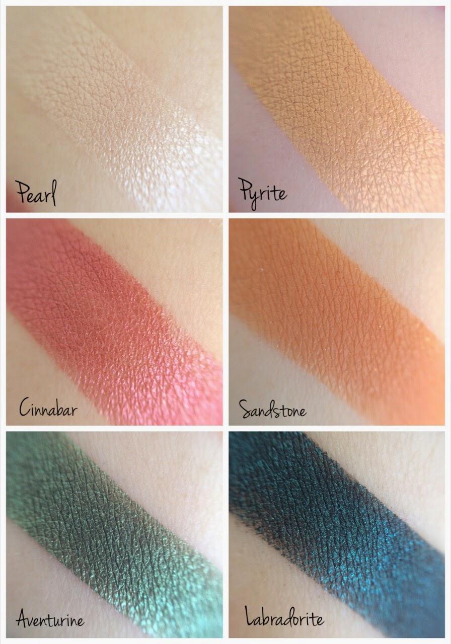 Pearl, Pyrite, Cinnabar, Aventurine, Sandstone, Labradorite