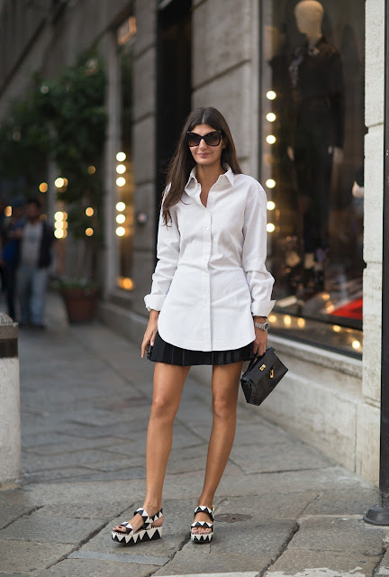 Streetstyle white trend