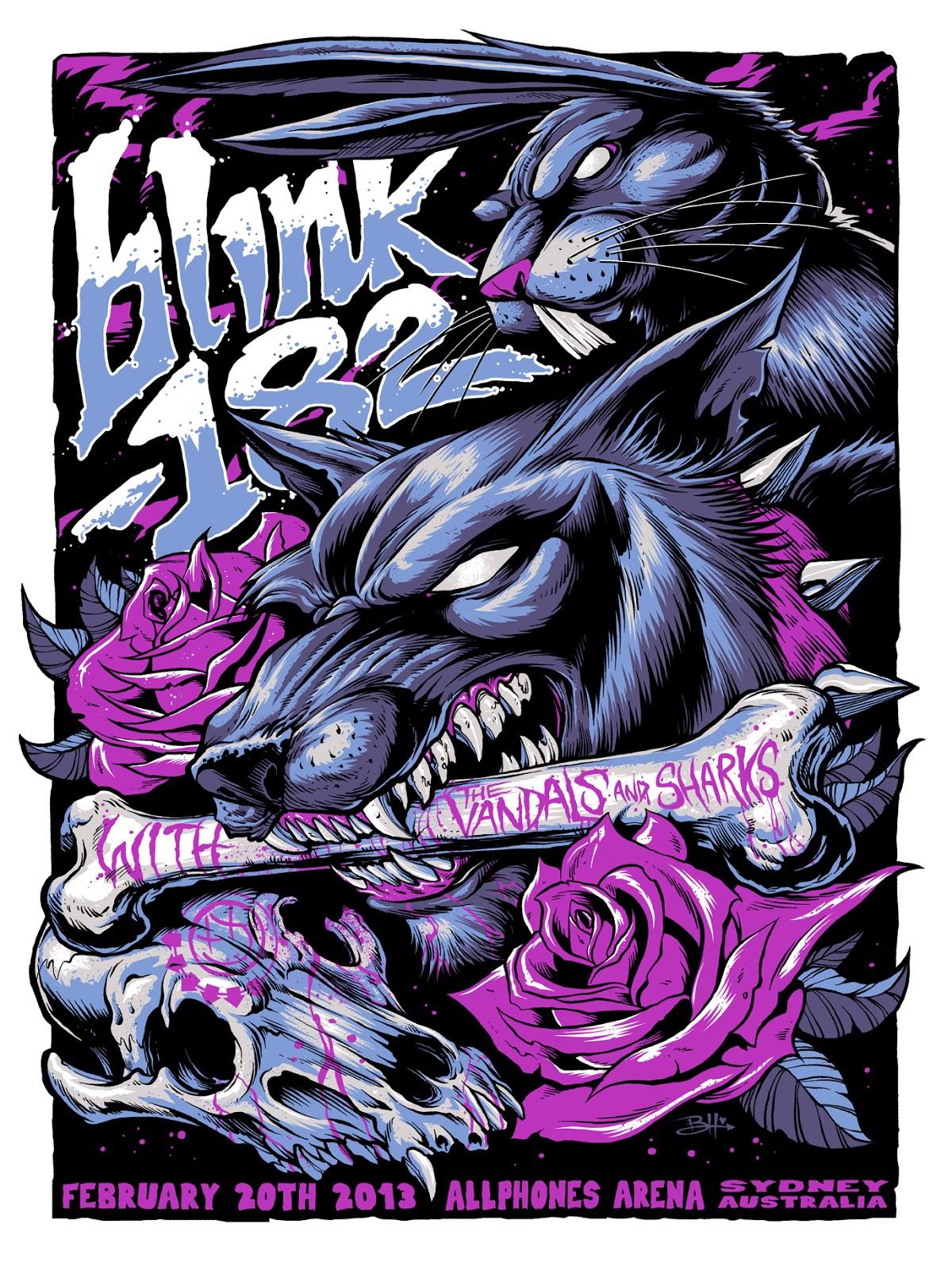 inside the rock poster frame blog tonights blink182