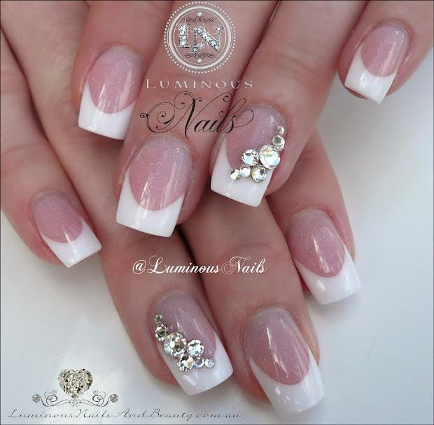 luminous nails classic french