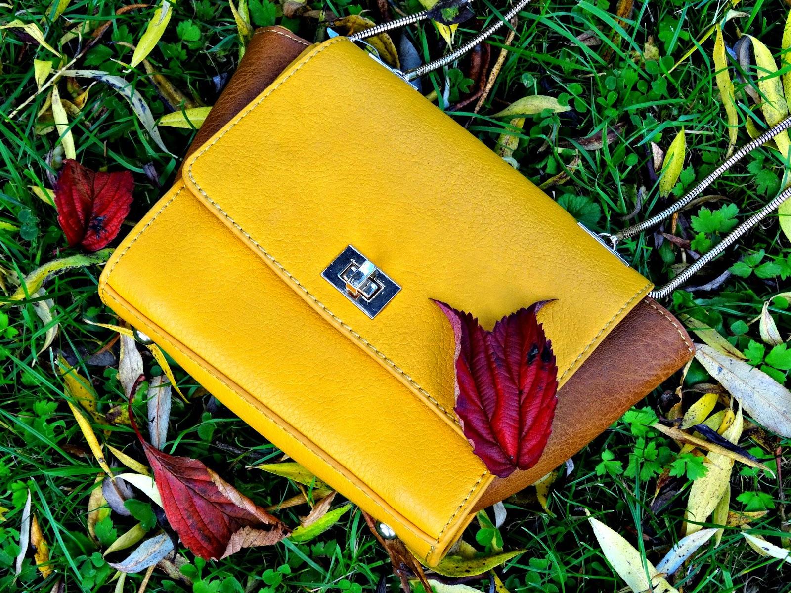 Stradivarius yellow mini handbag