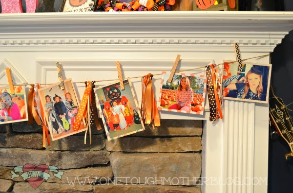 Halloween Photo Garland | www.sweetteaandsavinggraceblog.com