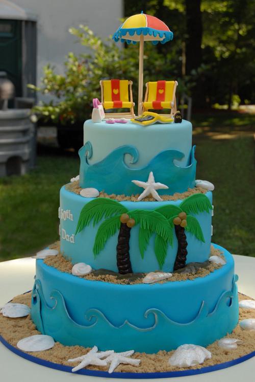 beach cake decorating ideas
