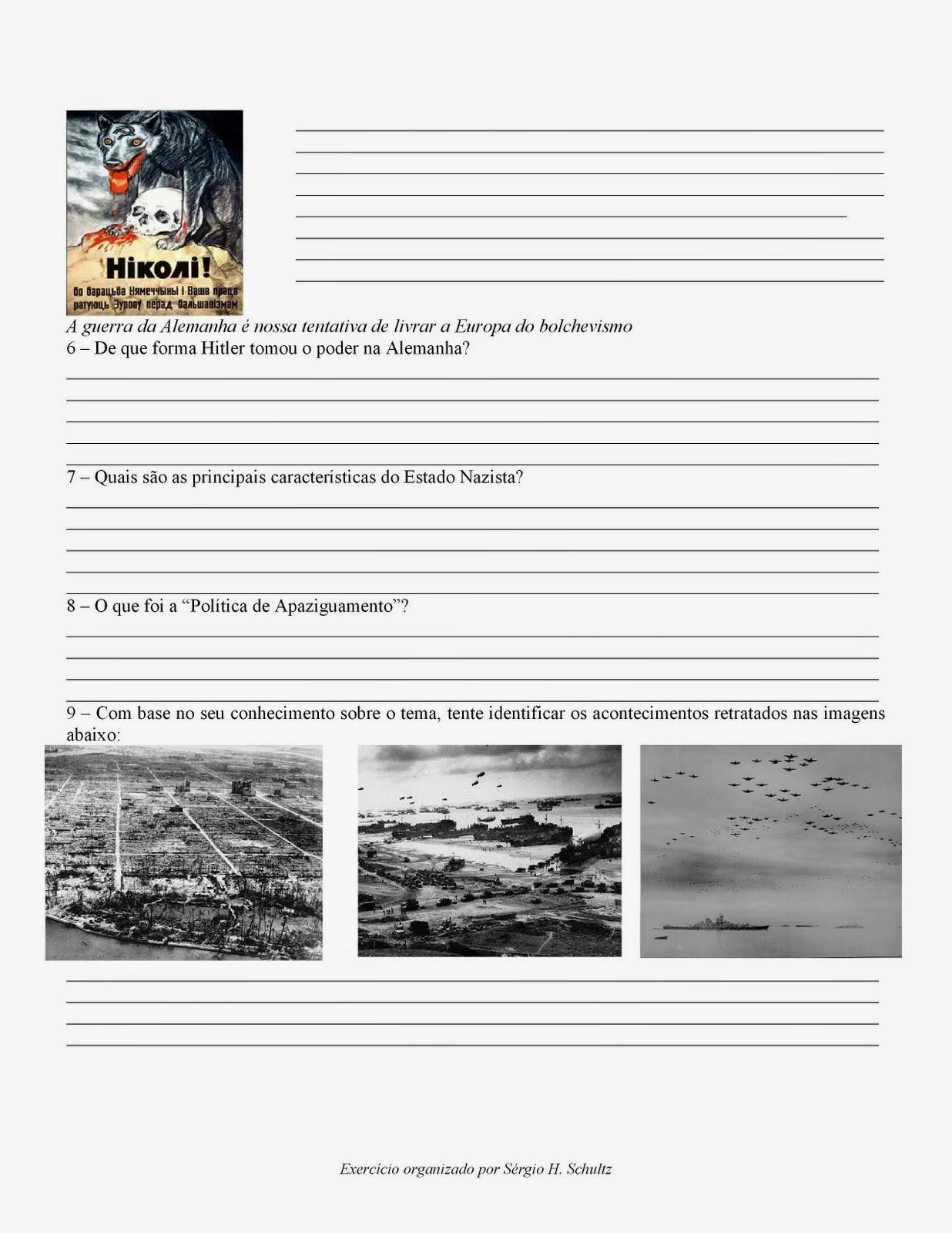 História 9 ano 2 Guerra Mundial
