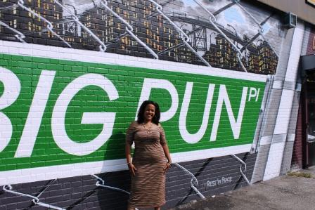 Boogiedowner 11th annual hugs from pun foundation school for Big pun mural bronx