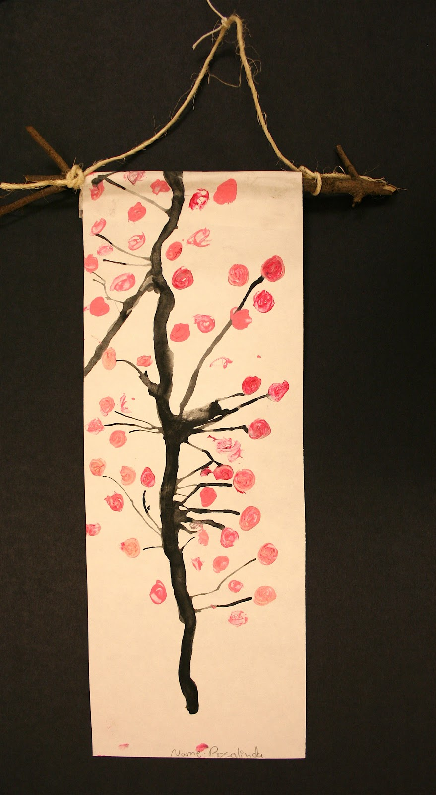 Art Project Girl Cherry Blossom Scrolls