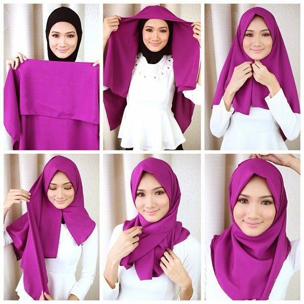 Cara Memakai Jilbab Segi Empat Terbaru 2016
