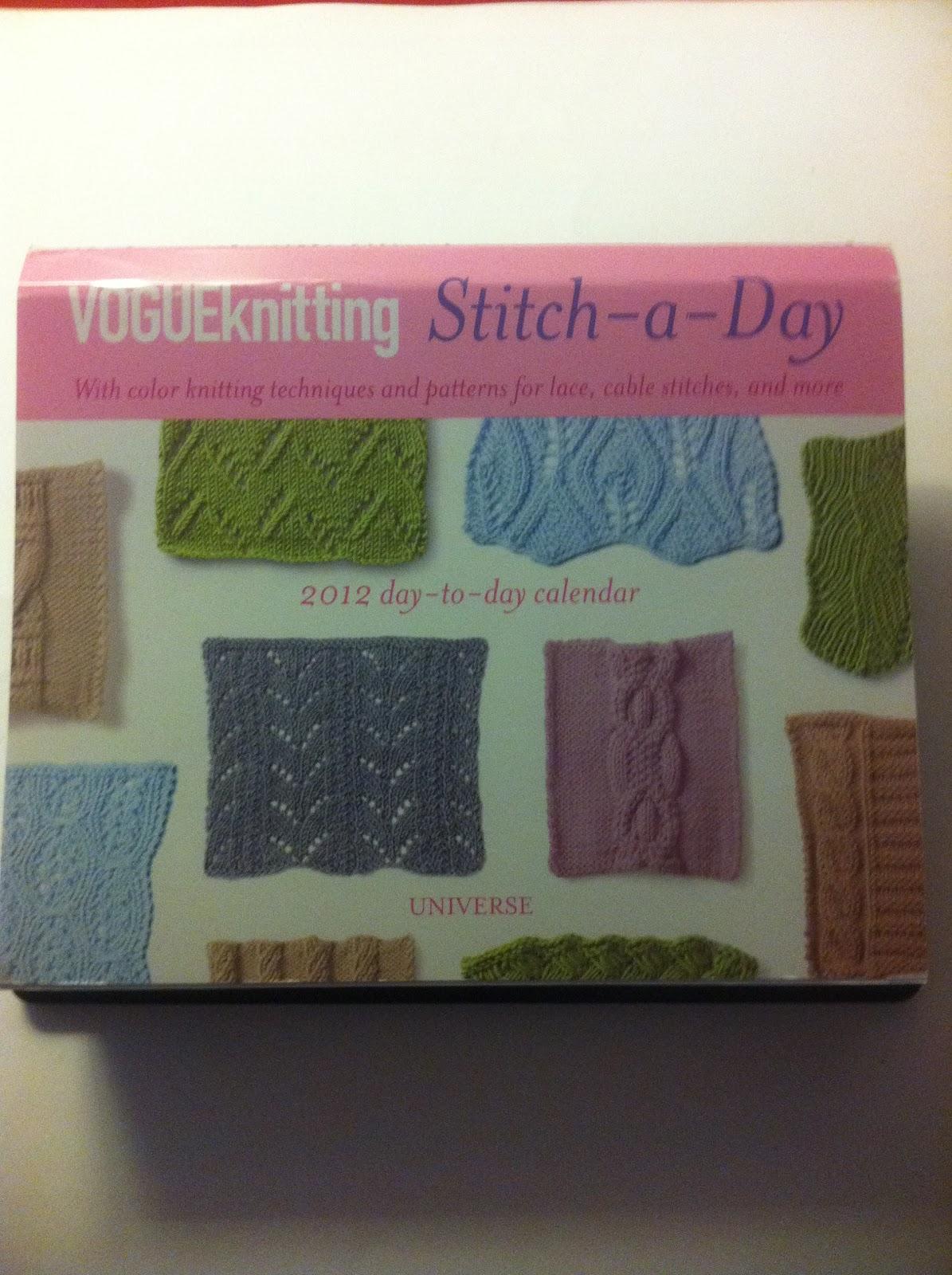 Jenns Yarn Addiction: Vogue Knitting Stitch a Day Calendar!