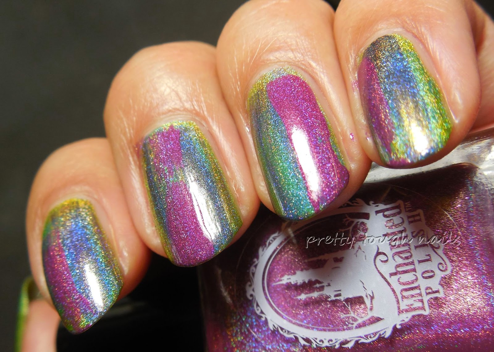 Enchanted Polish March 2014 Distressed Tie Dye
