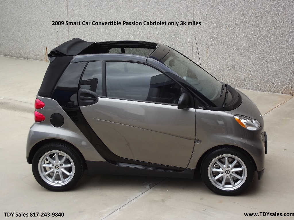 2009 mercedes benz smart car convertible passion cabriolet for Mercedes benz smart car for sale