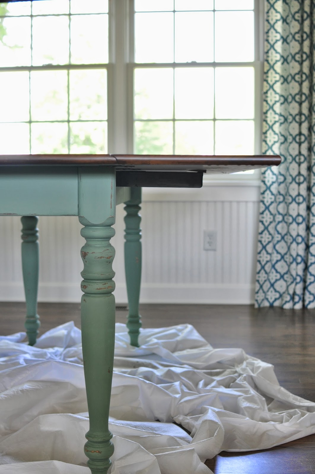 A Nurse And A Nerd: Refinishing My Dining Room Table   Staining And Painting
