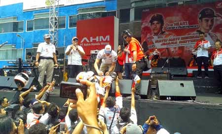 Marc Marquez in Indonesia