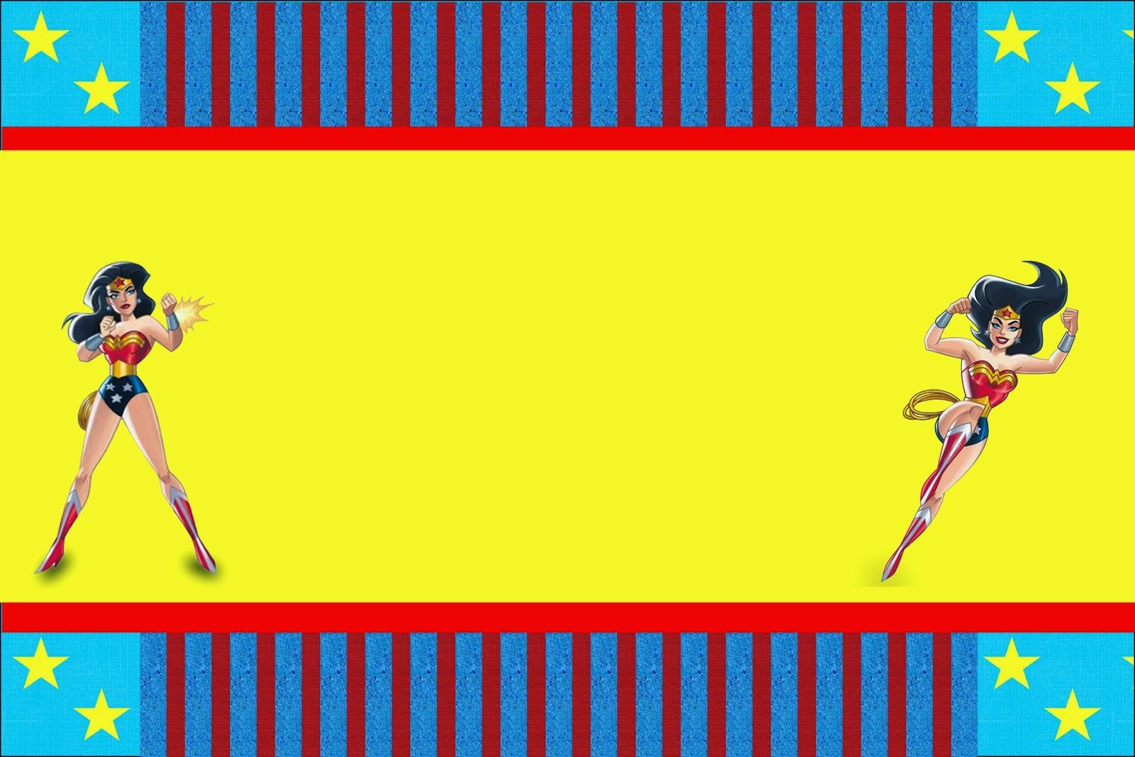 Wonder Woman Free Printable Invitations Oh My Fiesta For Geeks