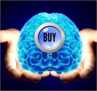 Cerebro con botón accionable para comprar
