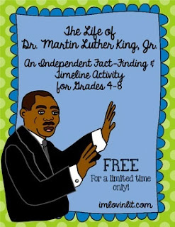 http://www.teacherspayteachers.com/Product/Martin-Luther-King-Jr-Timeline-Activity-for-4-8-FREE-for-a-Limited-Time-Only-1059384