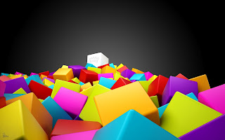 3D colorful squares
