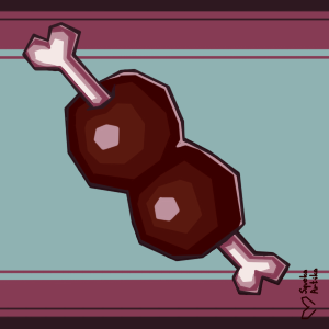 Meat (Highlight, More Shading, and Background)