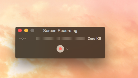 screen recording in quicktime player in Mac