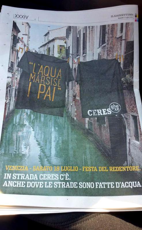 la festa del Redentore a Venezia con Ceres