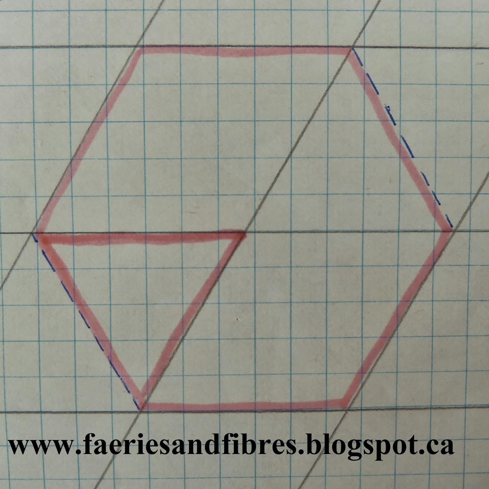 Faeries and Fibres: Tutorial: Draft your own diamonds, hexagons and ...