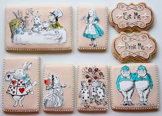 biscotti glassati Alice Nel Paese delle meraviglie