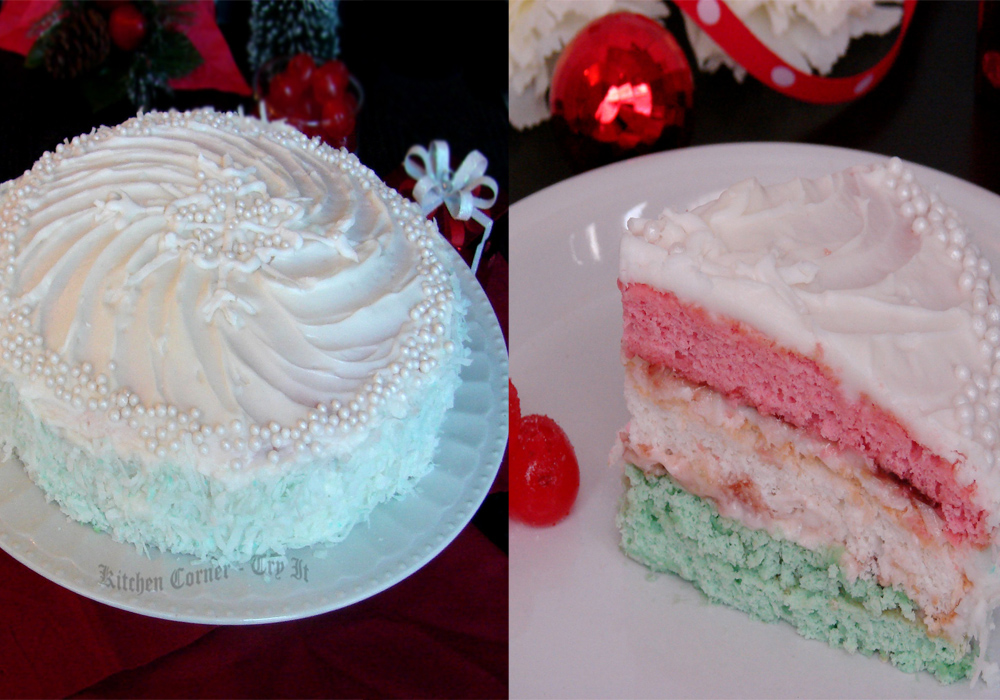 Kitchen Corner-Try It: Neapolitan Christmas Cake~ Baking Partners ...