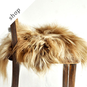 Sheepskin Chair Cover by taftyli