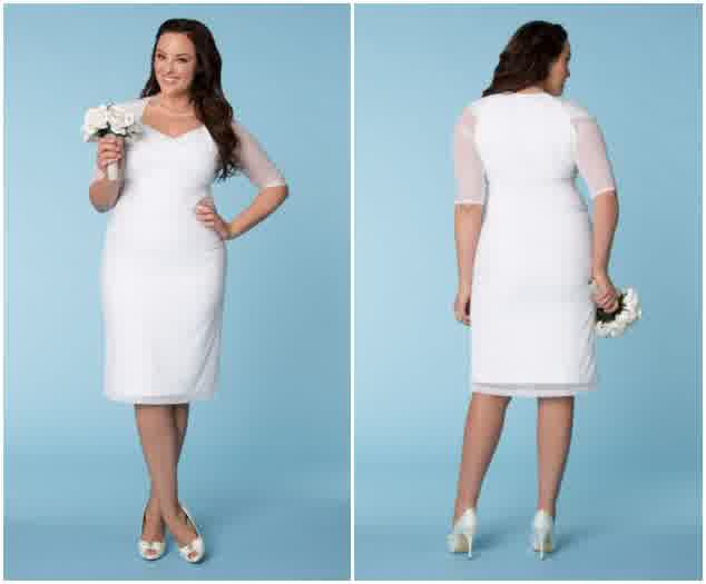 Curvy Plus Size Little White Dress Bridal/Wedding | bridal and ...
