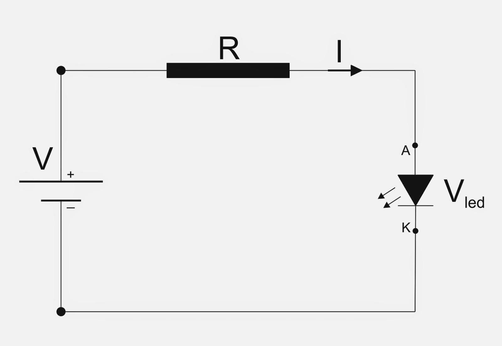 Circuito Led : Maquetas & modelos: calculo de resistencias para circuitos con led
