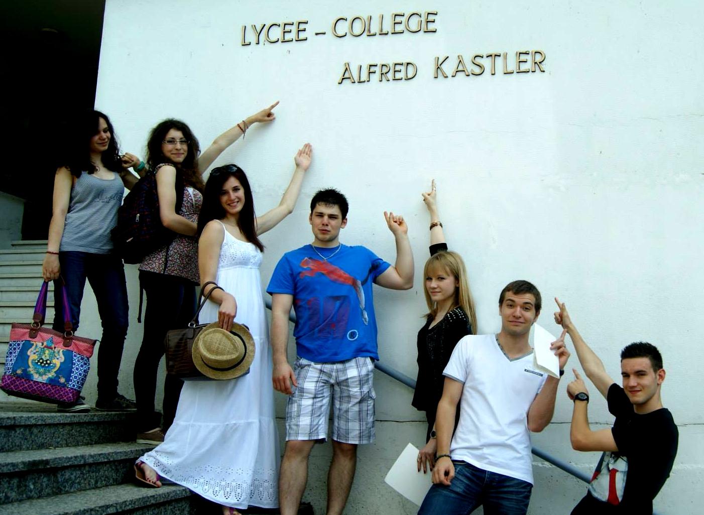 Cit u00e9 scolaire Alfred KASTLER   STENAY  Les excellents r u00e9sultats de Kastler aux examens