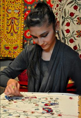 uzbekistan embroidery classes, uzbekistanart textiles tours