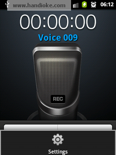 Voice record, settings