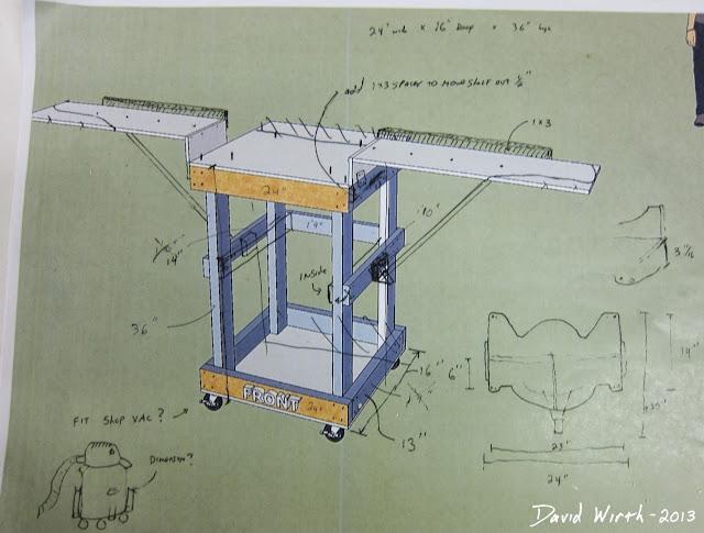 sketch miter saw, idea, shop vac, base plate
