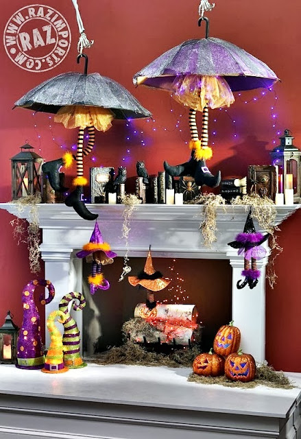 from the under stated to the elaborate and everything in between the 110 ideas below will surely help you bring the spook and spice into your halloween - Halloween Fireplace