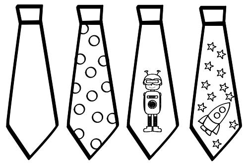 dibujos de corbatas para colorear