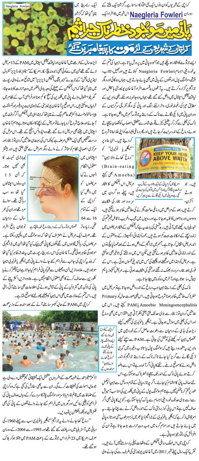 Naegleria Fowleri Brain Eating Amoeba Urdu Viral Infections Blog Articles